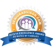2013 2014 SeniorAdvisor.com Award