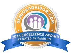 SenoiorAdvisor.com 2013 Excellence Award