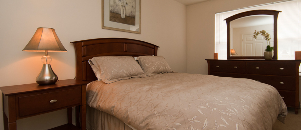 Homes at Foxfield Model Apartment Bedroom
