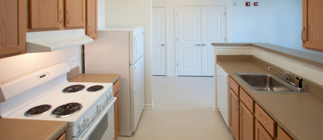 Each apartment has a fully-equipped kitchen