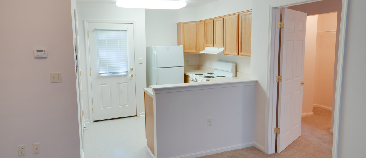 Interior of an apartment at Laurel Commons