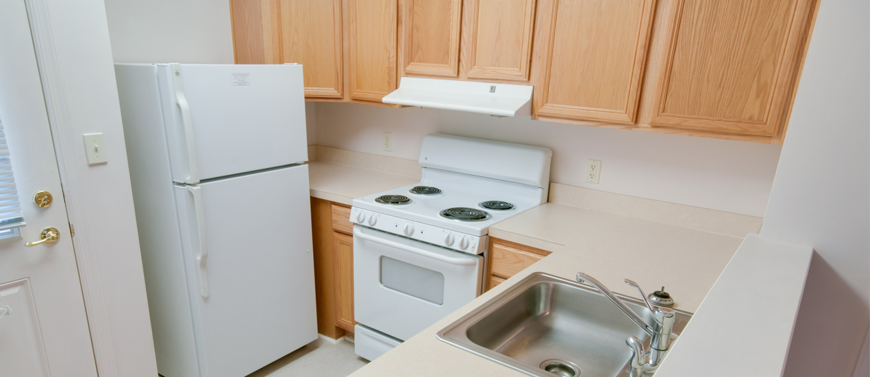 Fully-equipped kitchen in each home