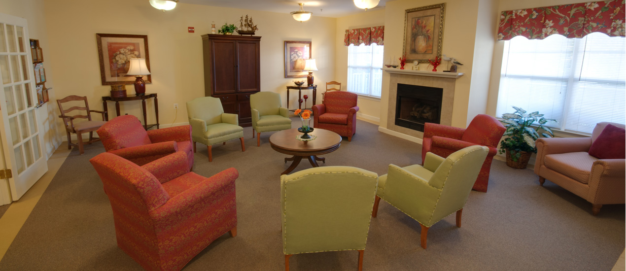 Resident Lounge with Fireplace