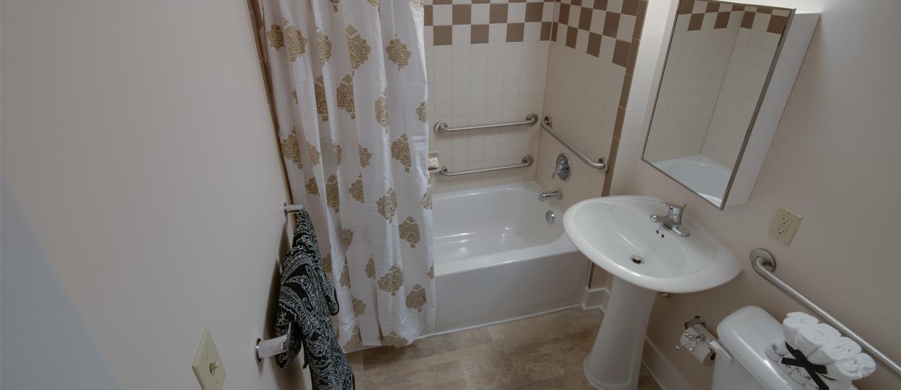 Model Bathroom with Tub