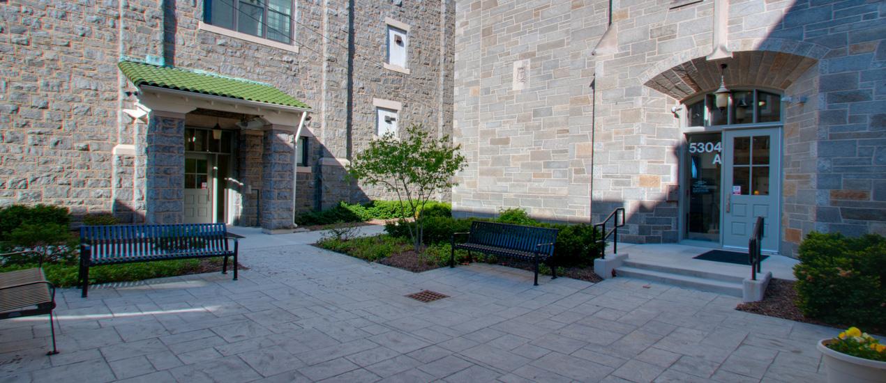 Outdoor Patio at John Manley House