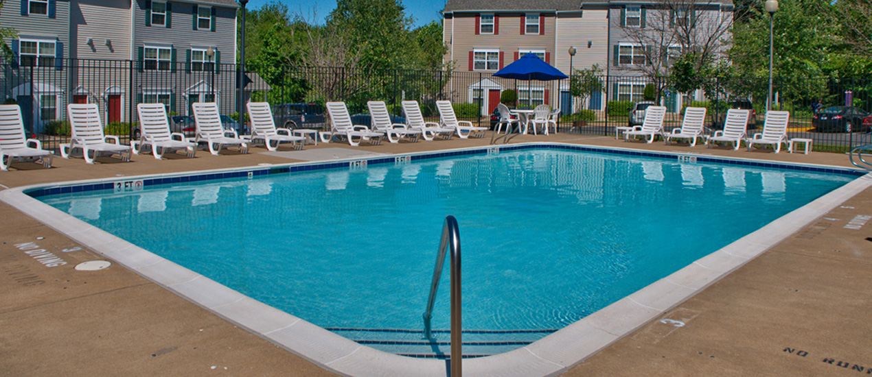 The second of two large pools at Riverwoods!