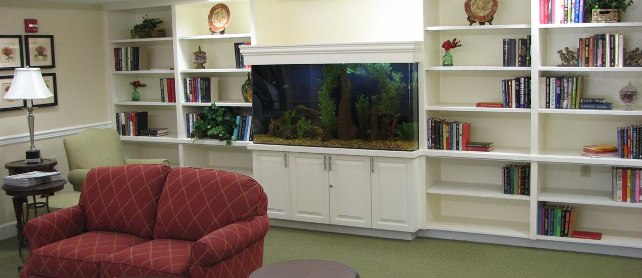 Library with Aquarium