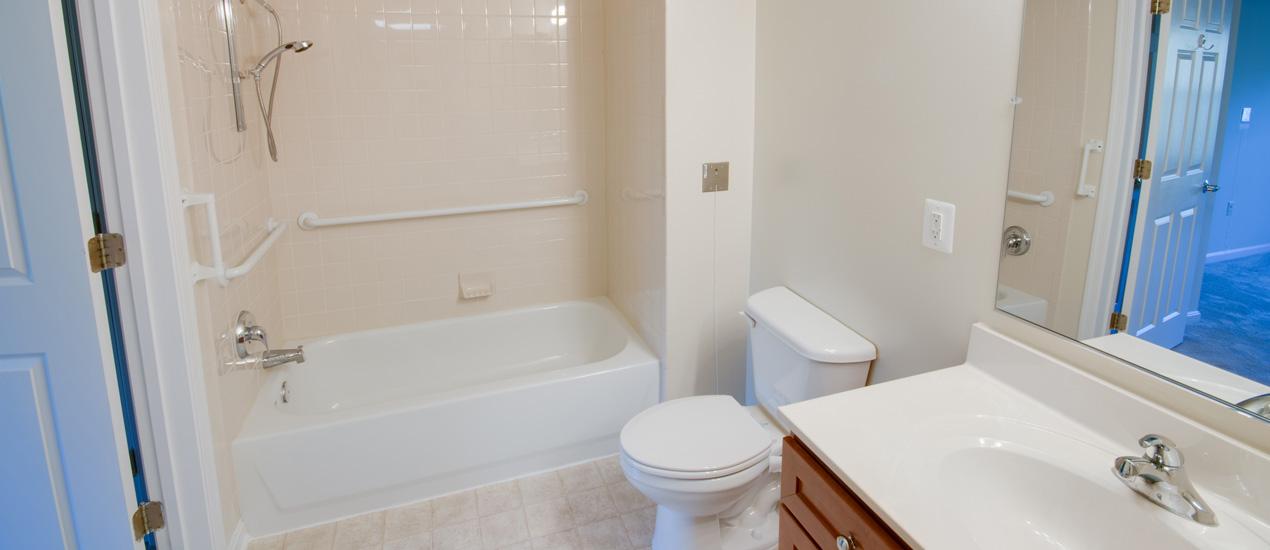 Victory Terrace Senior Apartments Bathroom