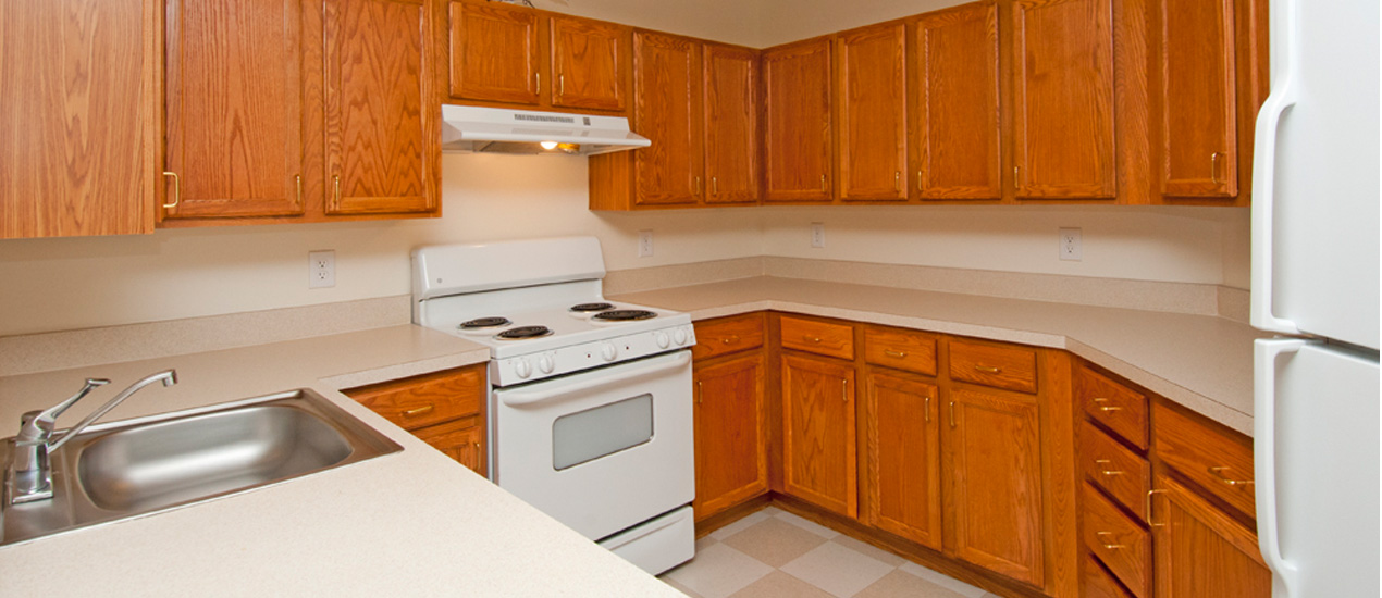 Fully-equipped kitchen with modern appliances