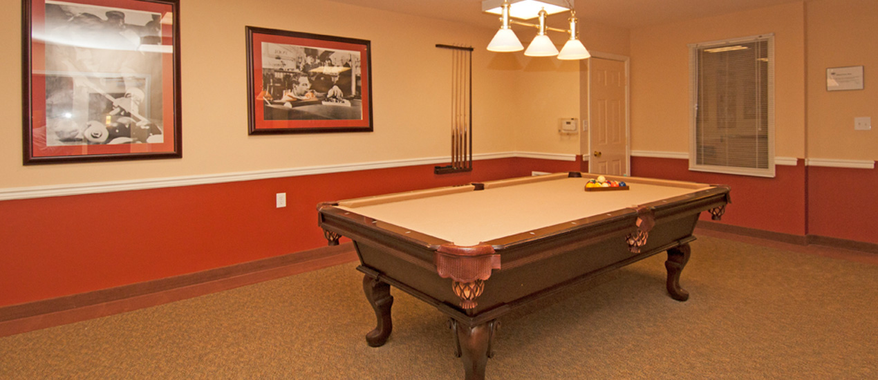 Billiards Room at Willow Manor at Fair Hill Farm
