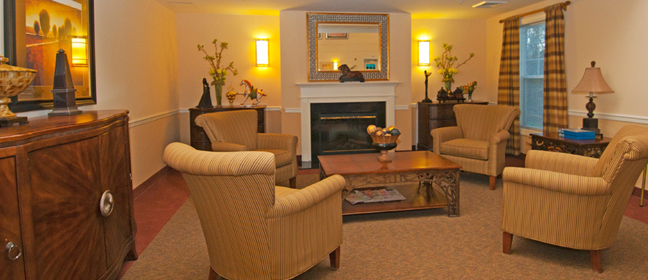 Resident Lounge with warm fireplace