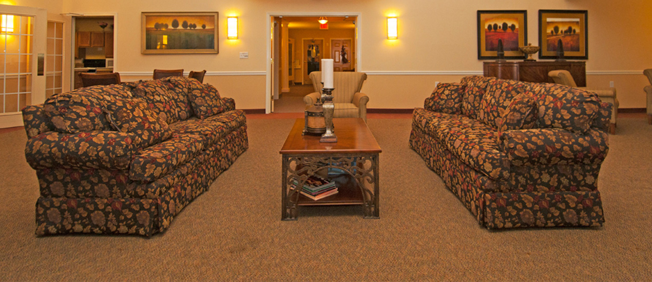 One of several resident lounge areas