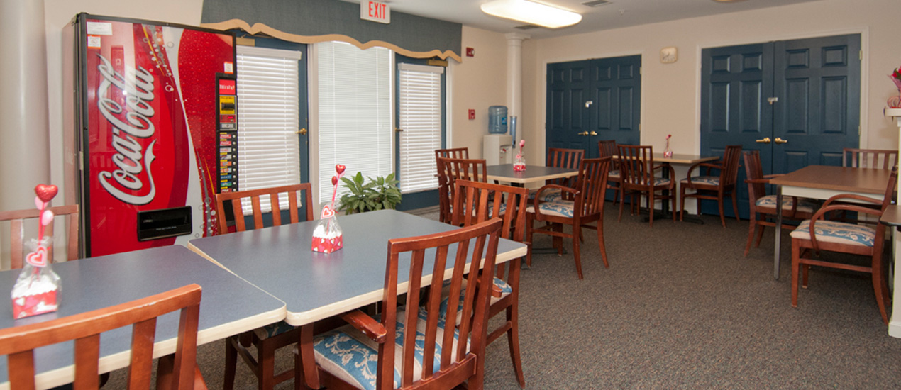 Participate in activities and events in the community room