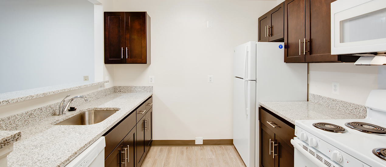 Newly renovated kitchen with modern features