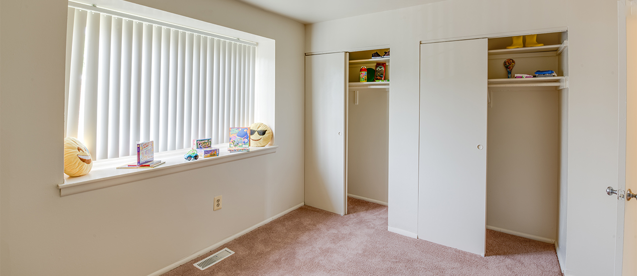 Bedroom and closets