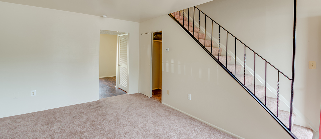 Interior living space and stairwell
