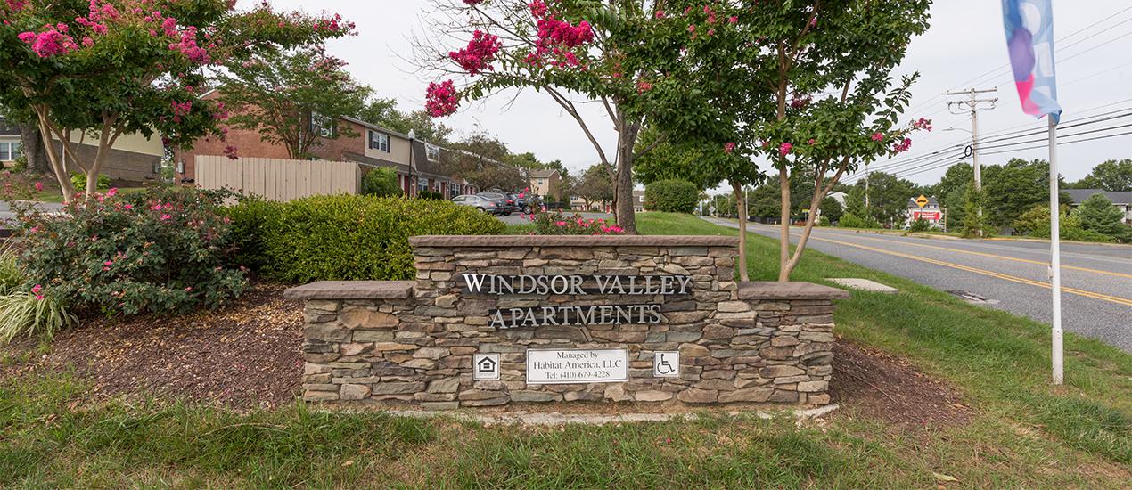 Windsor Valley community sign