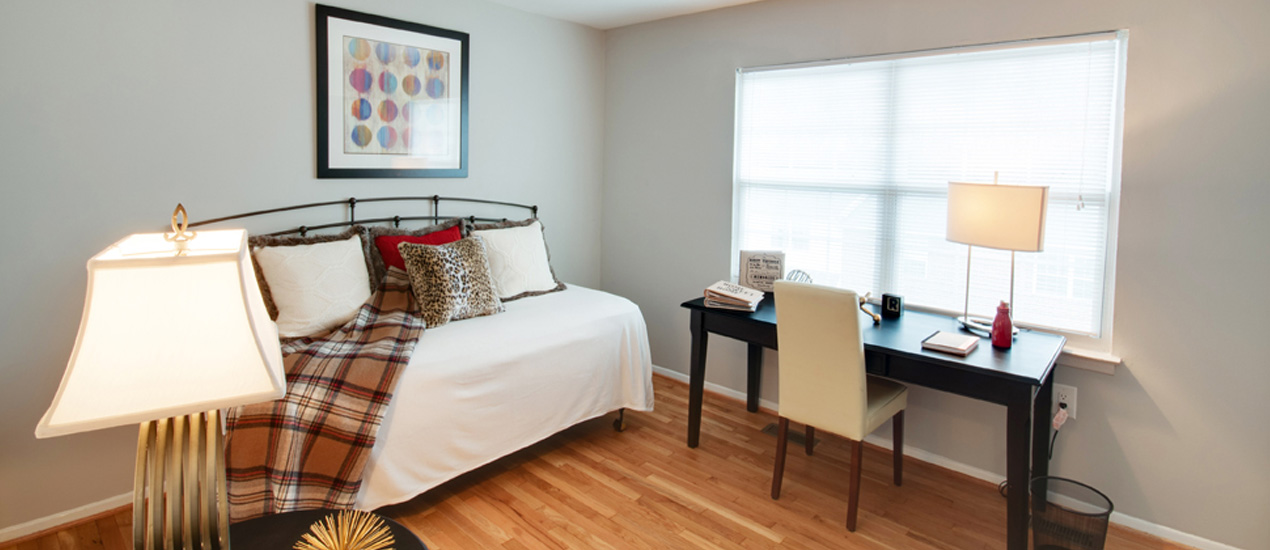 Falcon Crest Apartments and Townhomes Model Bedroom