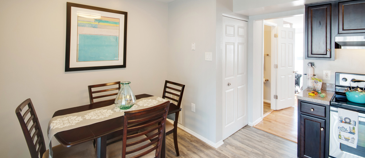 Falcon Crest Apartments and Townhomes Model Dining Room