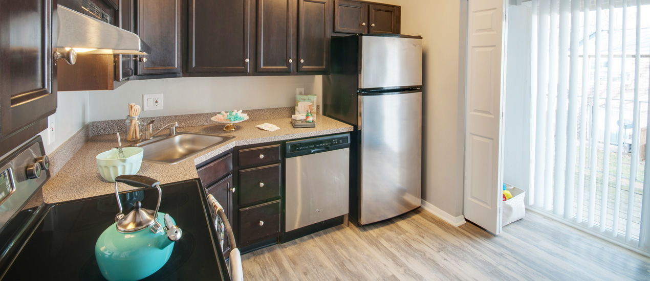 Falcon Crest Apartments and Townhomes Model Kitchen