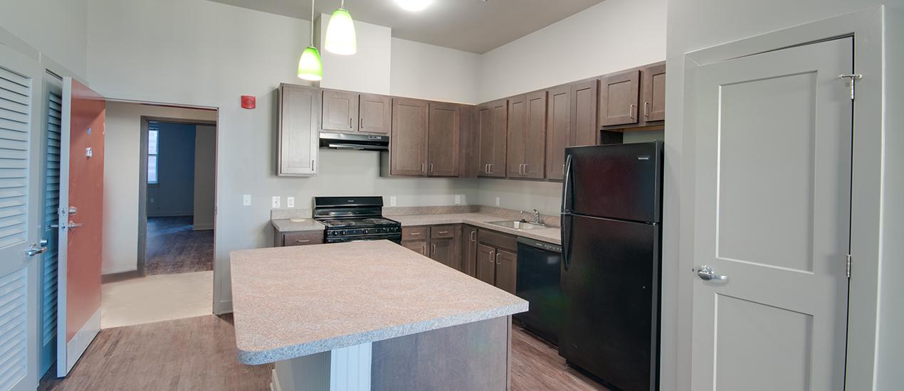 Franklin Lofts and Flats Apartment Kitchen