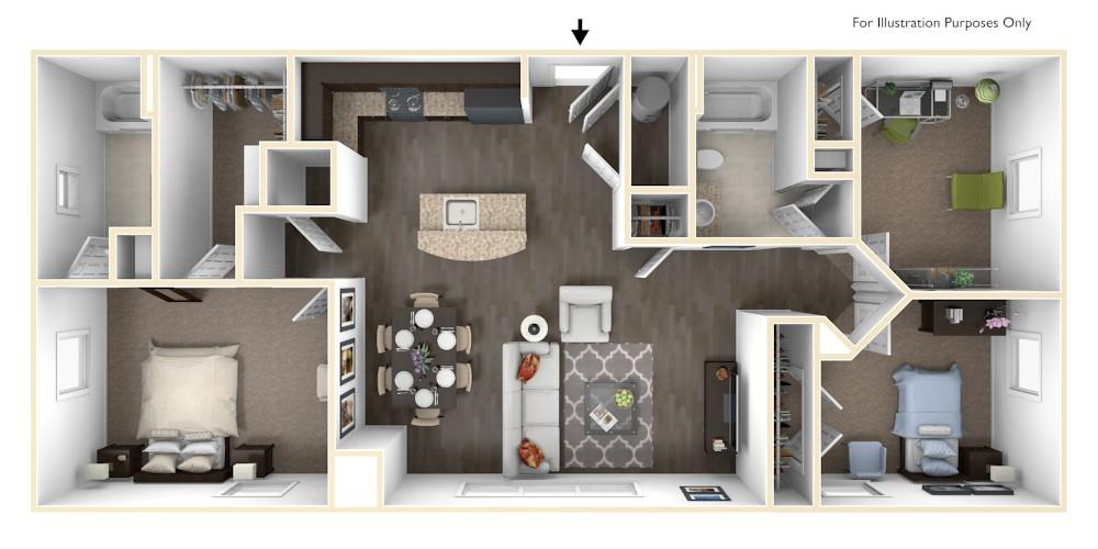 Merritt station habitat america - 2 bedroom suites in chesapeake va ...
