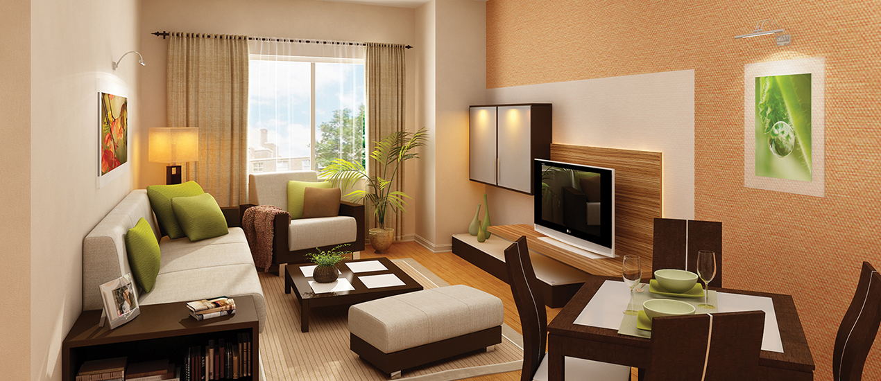 Argent Apartments Model Living Room