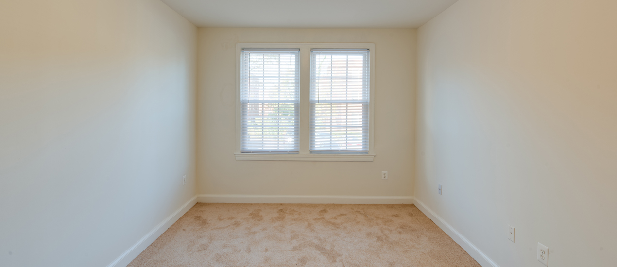 Bedroom with window and carpet