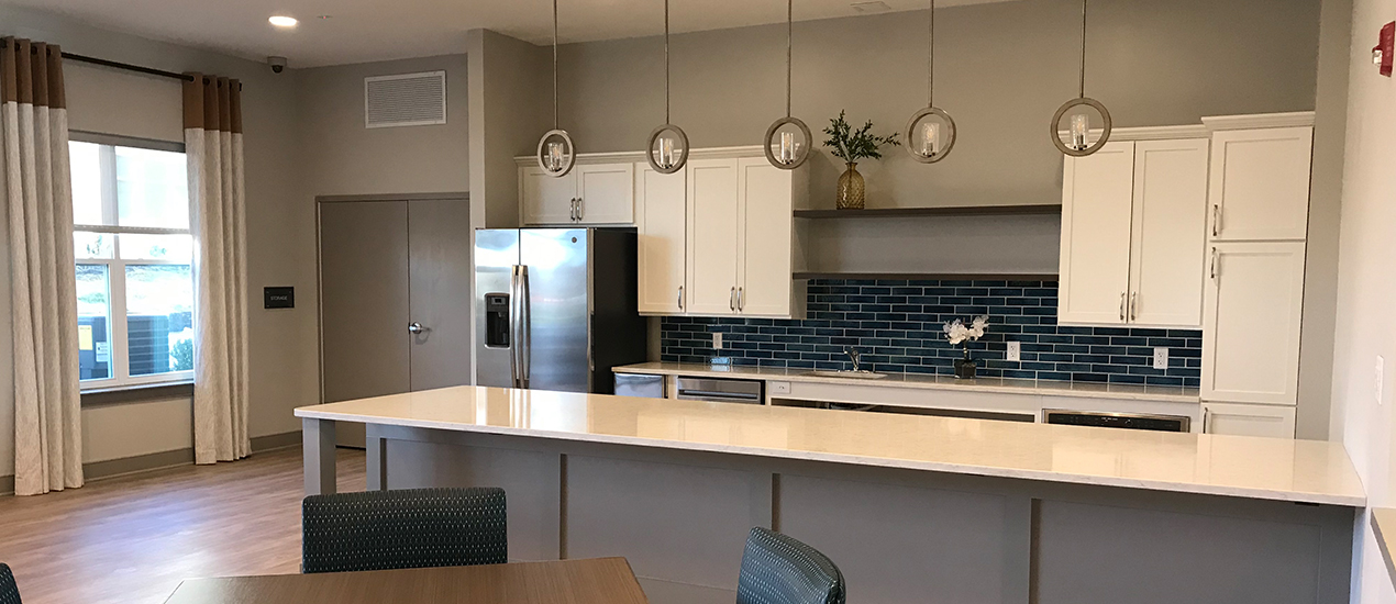 Community space with kitchen