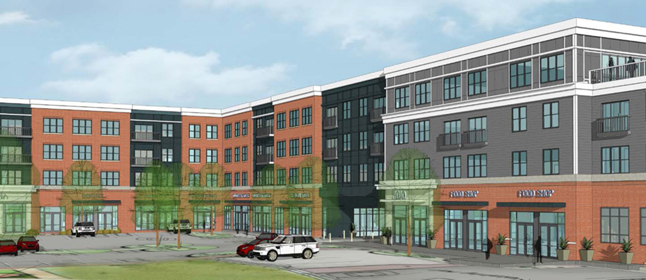 Village Center at Stadium Place rendering