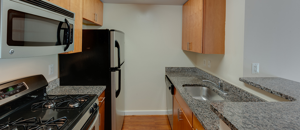 Kitchen with energy efficient appliances