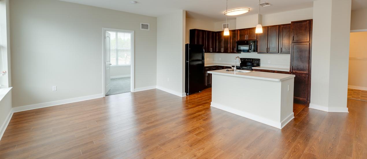 living room kitchen bedroom